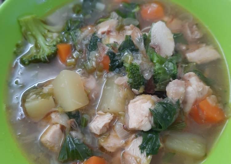 Resep Sop ayam so simple Yang Mudah Sedap