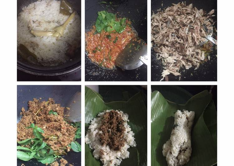 Nasi Bakar Isi Sambal Tongkol Suwir