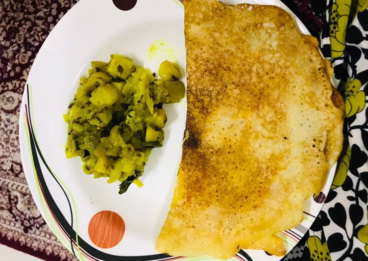 Instant gits dosa & saag recipe @ home