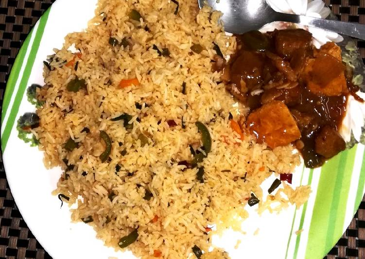 Fried Rice & Chilli Fish