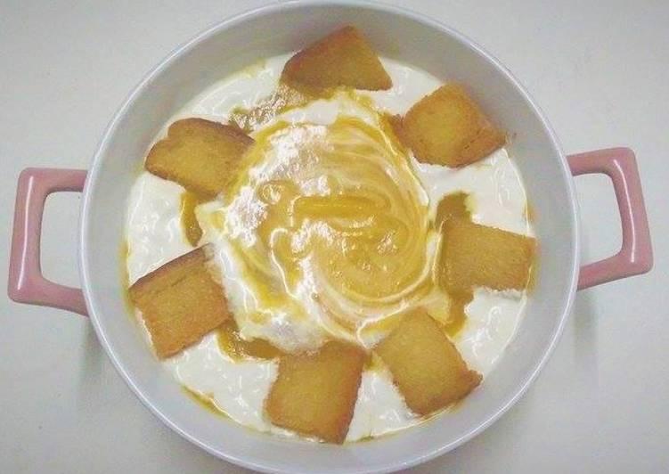 شوربة البطاطا الحلوة مع كريما الصويا