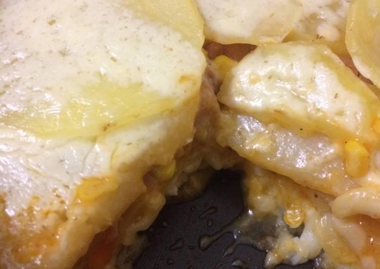 Potato macaroni lasagna