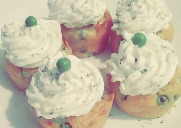 Muffins jambon petits pois