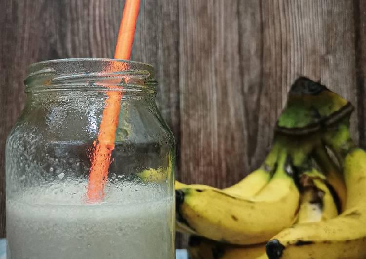 Korean Style Banana Flavored Vanilla Milk - resepipouler.com
