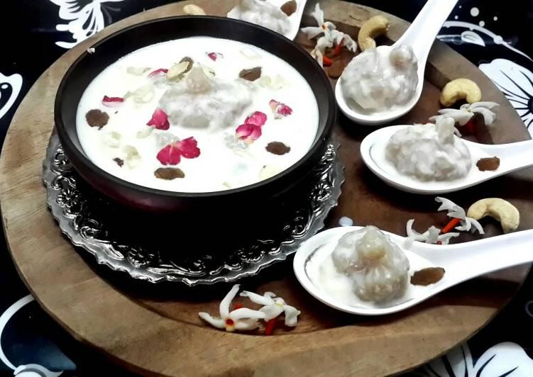 Steamed Coconut Dumplings in Kheer