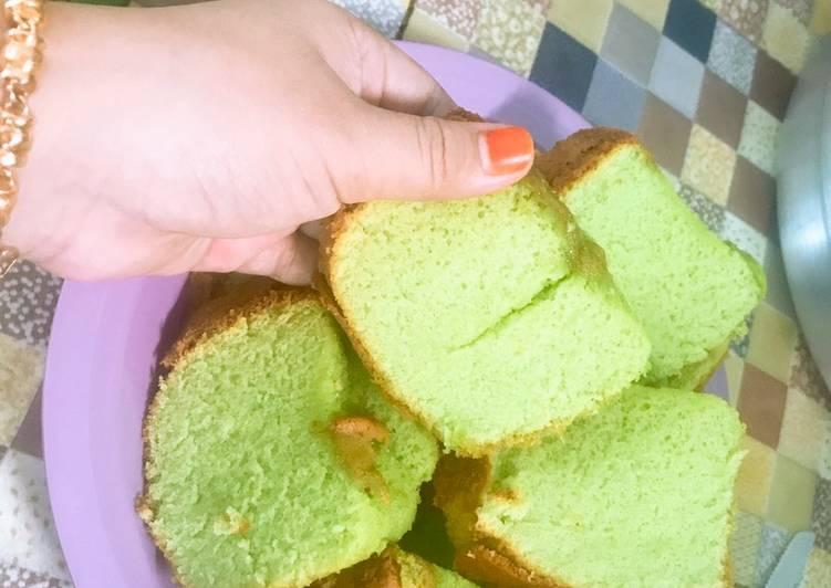 Bolu pandan baking pan tanpa sp tanpa bp super lembut
