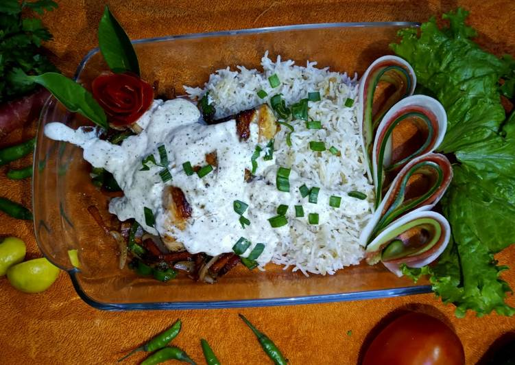 How to Prepare Any-night-of-the-week Chicken sizzler with garlic rice