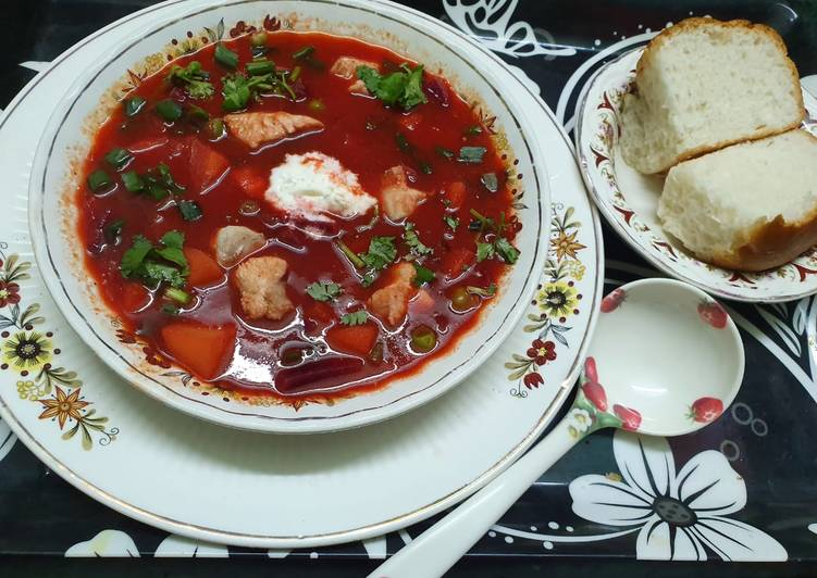Traditional Ukrainian Borscht Soup Recipe By Kumkum Chatterjee Cookpad