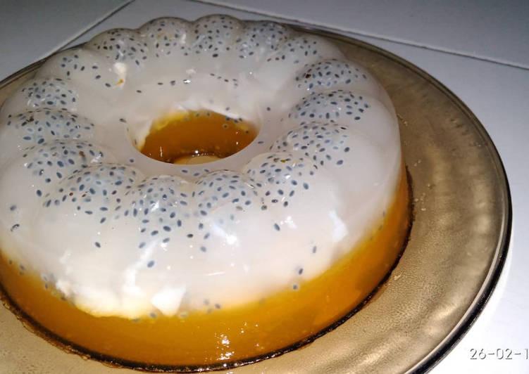 Pudding Kelapa Muda Lapis Jeruk