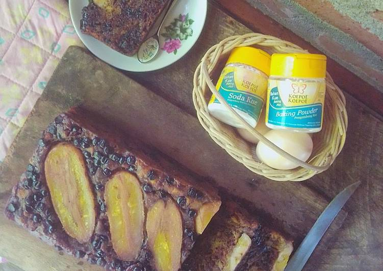 Cake Pisang Coklat n Chochochips EMPUK LEMBUT Simpel Tanpa Mixer