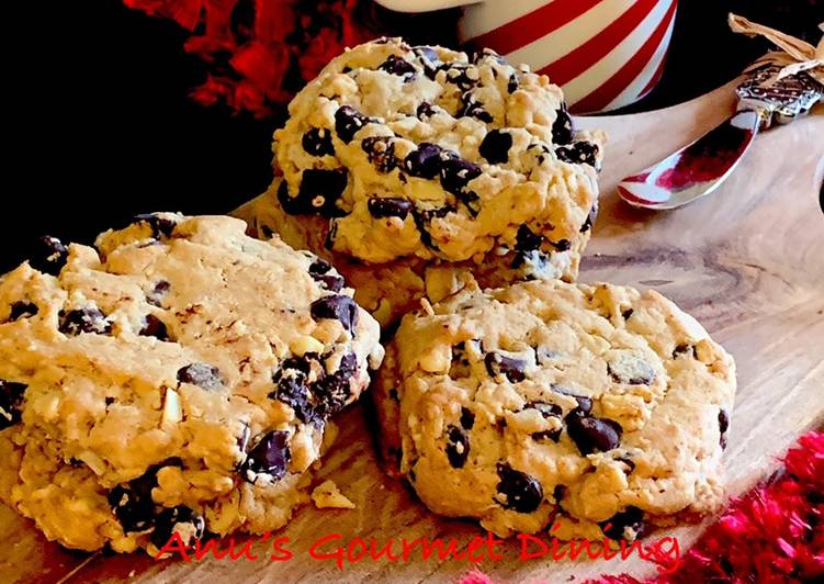4 C Chewy Cookies | Chocolate-Coffee-Coconut-Cashew nut Chewy Cookies