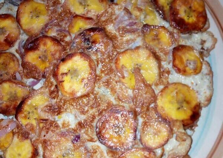 Plantain fritata