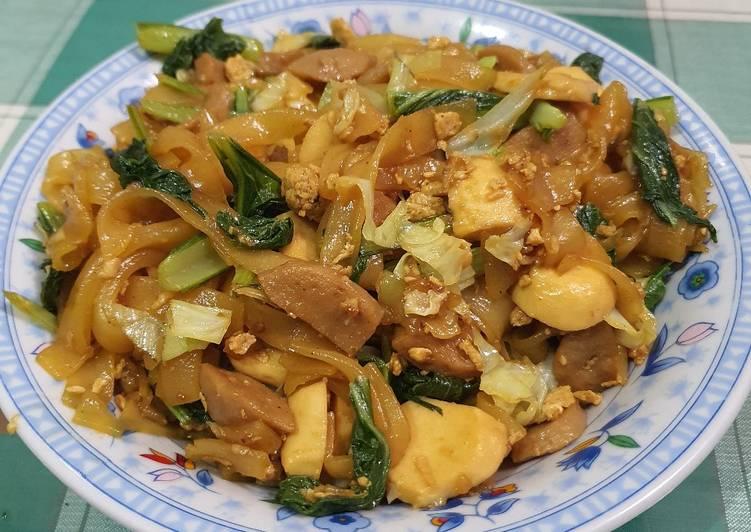 Kuetiaw goreng bakso sapi