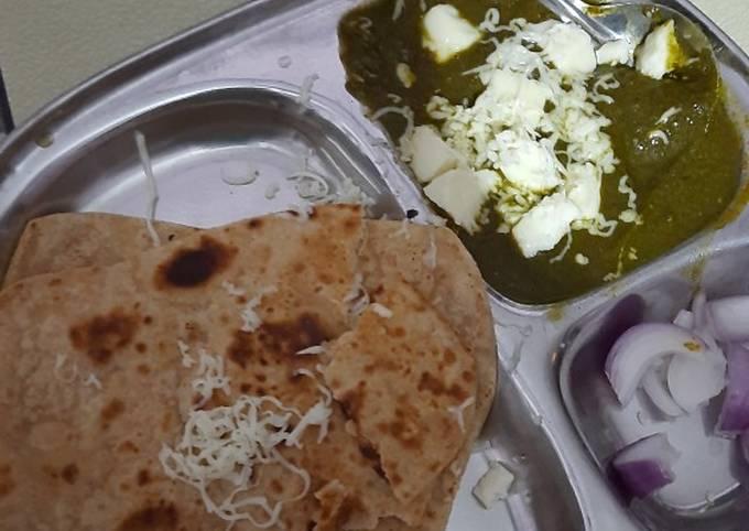 Cheese Palak sabju
