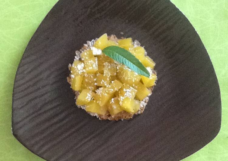 Crumble inversé mangue coco