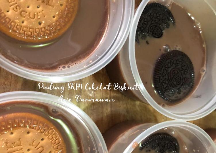 Puding SKM Cokelat Biskuit (Oreo & Regal)