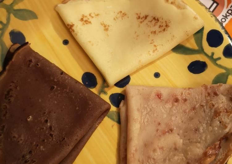 Crêpes *chocolat nature et gelée de groseille