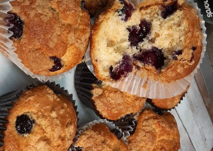 Recipe: Yummy Moist and fluffy Blueberry muffins