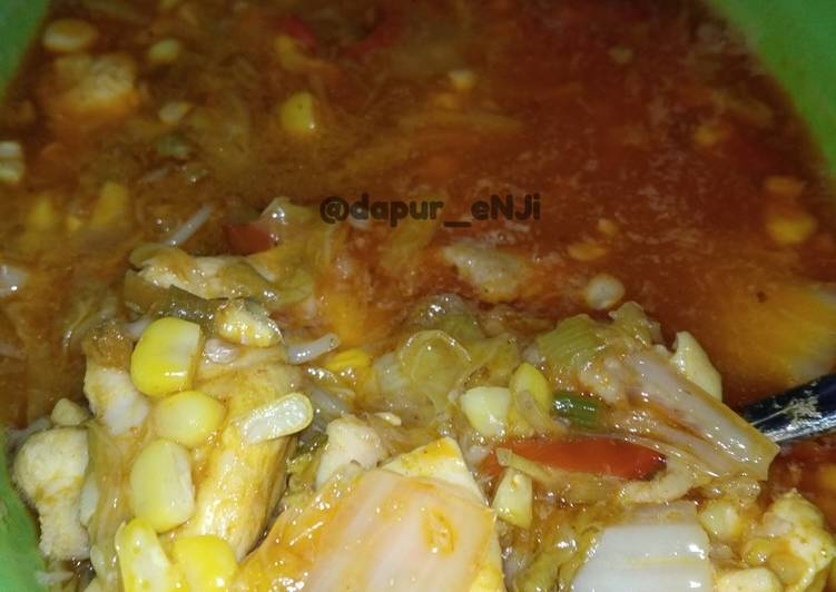 Ayam Sayur kuah merah by Dapur eNJi