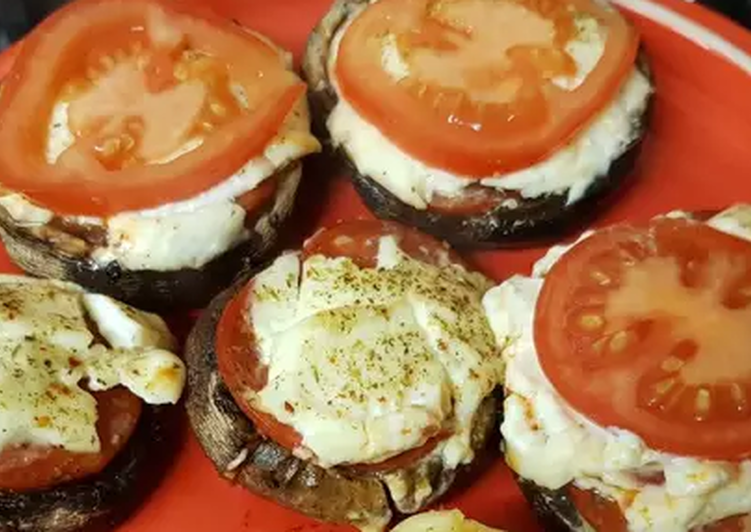 My Pizza style stuffed portobello mushrooms