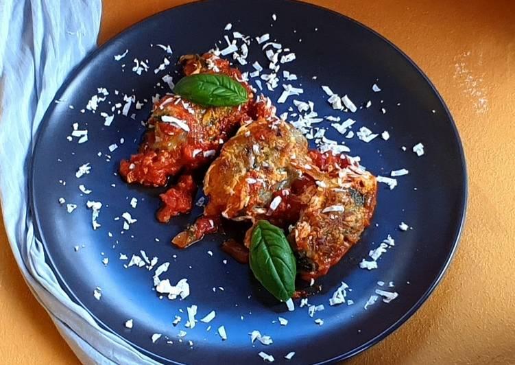 Ricetta Gnudi al forno con pomodori,mozzarella e ricotta salata