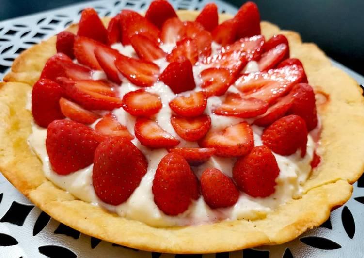 Tarte aux fraises sans four