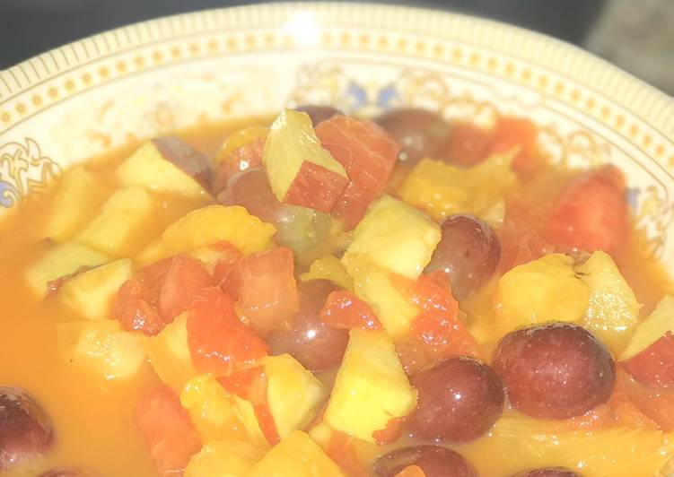 Simple Way to Make Super Quick Homemade Fruit Salad
