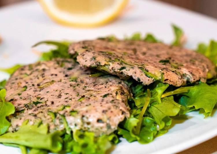 Burger di tonno fresco con zucchine