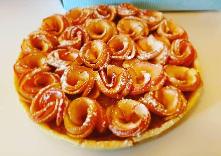 Tarte aux pommes en forme de roses 🌹🍎