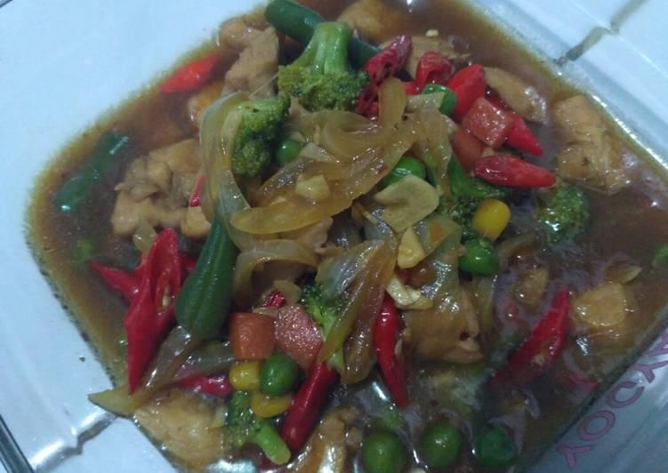 Ayam Teryaki Pedas with Vegetables