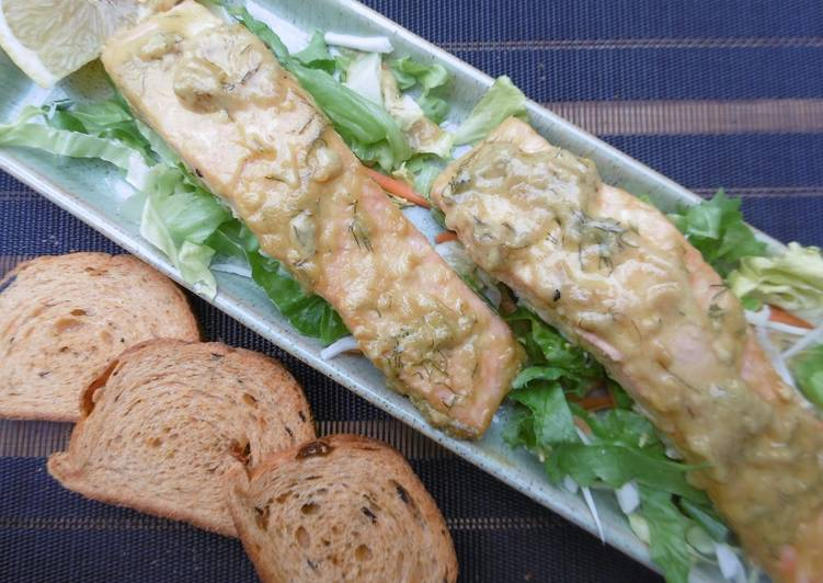 Honey & Mustard glazed Salmon