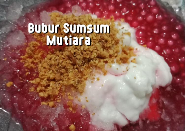 Bubur Sumsum Mutiara Kuah Sirup Cocopandan