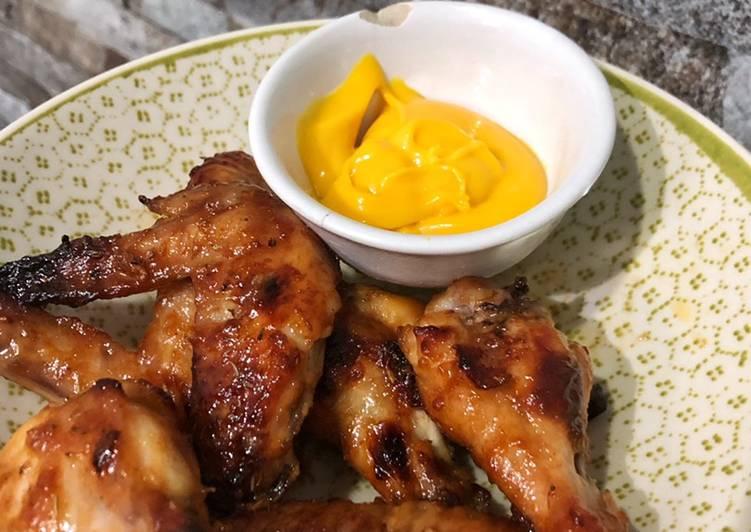 Honey Roasted Chicken Wing - cookandrecipe.com