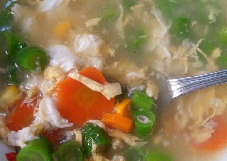 Resep Sop telur super simpel yang Sempurna