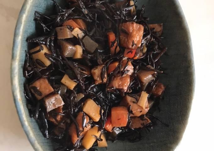 Hijiki- Japanese seaweed dish
