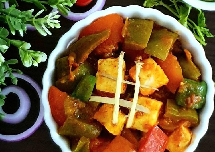 Easiest Way to Make Quick Kadhai Paneer