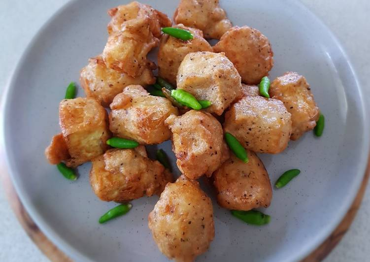 Step-by-Step Guide to Make Super Quick Homemade Deep fry Salt and Pepper Tofu