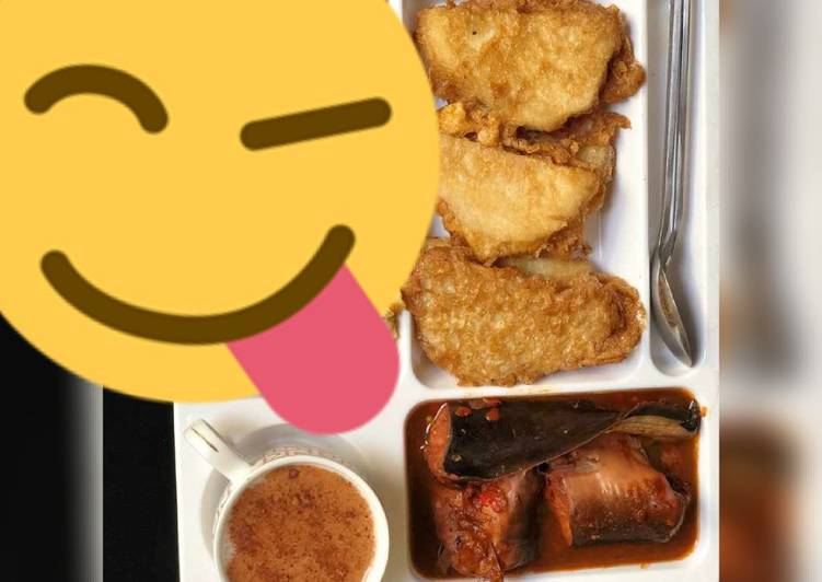 Fried yam&egg with fish pepper soup, Choosing Fast Food That's Very good For You