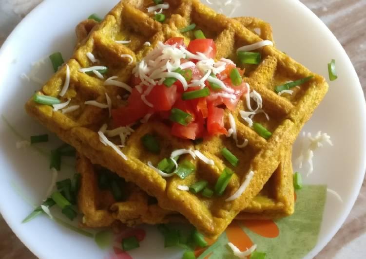 Savoury Waffles Pudla Waffles