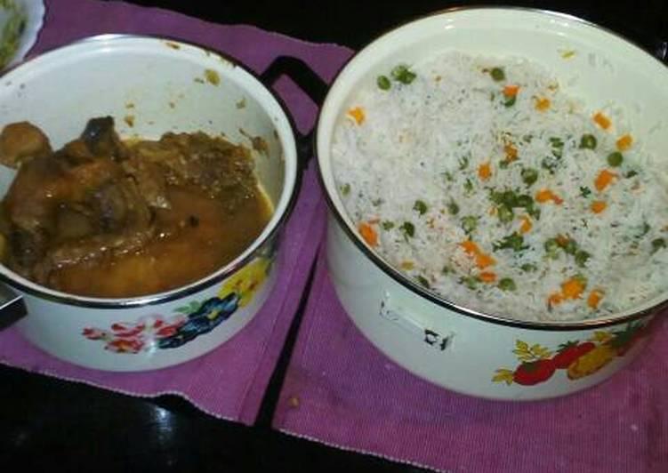 Recipe of Speedy Rice & chicken meat stew for three