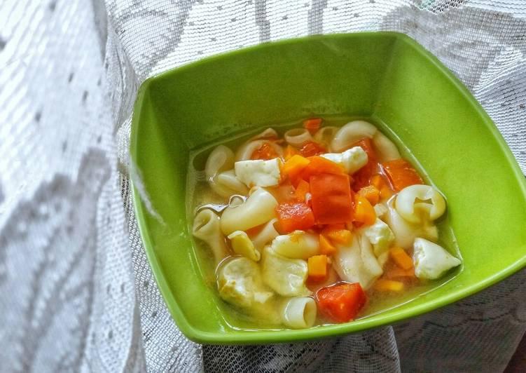 Steps to Make Ultimate Tofu Macaroni and Veggie Soup