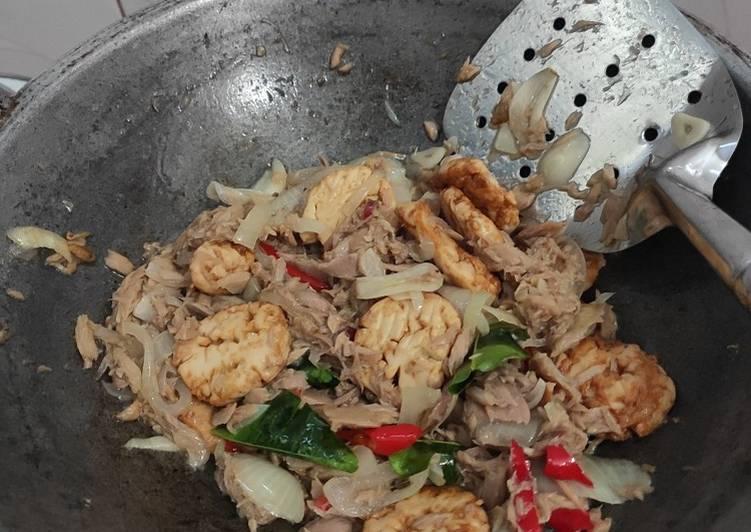Tumis Tofu Tuna Kaleng