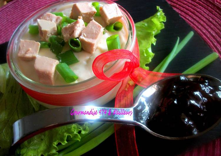 Verrine de velouté de haricot coco blancs au Foie gras