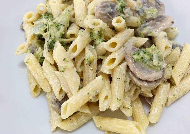 espaguetis con champinones y nata thermomix