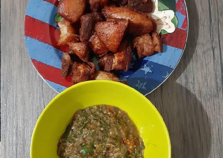 Babi goreng Simple sambal andaliman