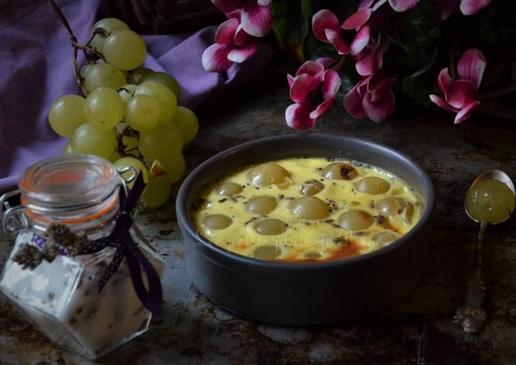 Gratins d'automne au raisin et sucre parfumé à la lavande