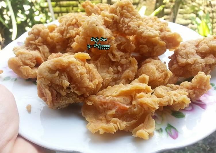 Resep Ayam Kentucky Sederhana Kresssnya Tahan Lamaaa oleh Defy dwi