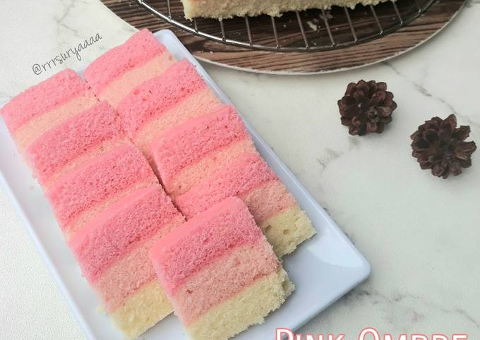 Pink Ombre Steam Cake