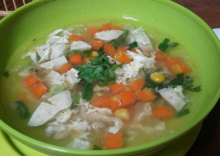 Sup Jagung Baso Ayam