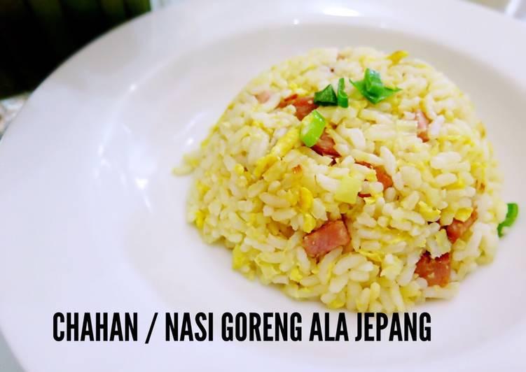 Resep Nasi goreng ala Jepang / Chahan Paling Gampang